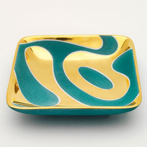 Lava Turquoise Tray by Wayland Gregory Ceramics | Gracious Style