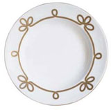 Brandebourg Matte Gold Round Deep Platter 31 Cm (Special Order) | Gracious Style