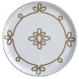 Brandebourg Matte Gold Tart Platter 31.5 Cm (Special Order) | Gracious Style