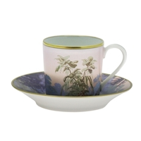 Le Bresil Coffee Cup & Saucer Cyl Diam 12 - 9Cl - H : 6 | Gracious Style