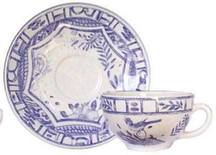 Gien france oiseau blue and white dinnerware gracious style for Oiseau france