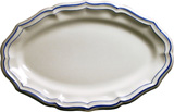 Filet Bleu Oval Platter 16 1/8 In X 10 5/16 In | Gracious Style