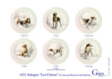Sologne Dessert Plates Dogs Assorted 9 1/4 In Dia, Set Of 6 | Gracious Style