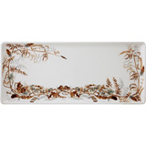 Sologne Oblong Serving Tray Foliage 14 In Long | Gracious Style
