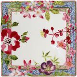 Millefleurs Square Plate Small 6 3/4 In Sq | Gracious Style
