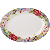 Millefleurs Oval Platter 6 14 1/2 In X 10 1/2 In | Gracious Style