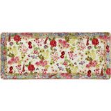 Millefleurs Oblong Serving Tray 14 In Long | Gracious Style