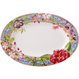 Millefleurs Pickle Dish 9 In Long | Gracious Style