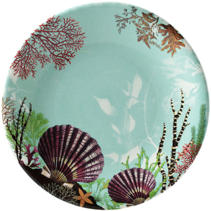 Ocean Dinner Plate 11 3/4 In Dia | Gracious Style  sc 1 st  Gracious Style & Gien France Ocean Dinnerware | Gracious Style