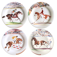 Cavaliers Canape Plates Assorted 6 1/2 In Dia, Set Of 4 | Gracious Style