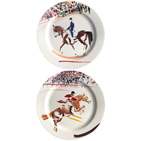 Cavaliers Coasters Assorted 5 In Dia, Set Of 2 | Gracious Style