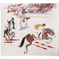 Cavaliers Square Plate 11 1/2 In X 10 1/2 In | Gracious Style