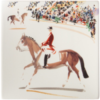 Cavaliers Square Plate Small 6 3/4 In Sq | Gracious Style