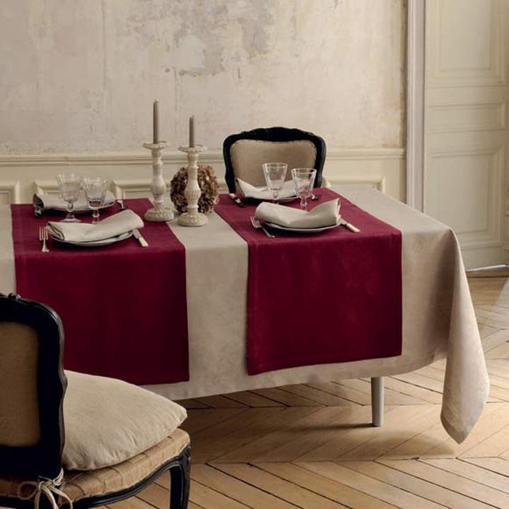 Garnier-Thiebaut Mille Datcha Caillou Table Linens