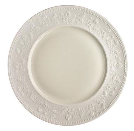 Georgia Ivory American Dinner Plate 10.5 in Round | Gracious Style  sc 1 st  Gracious Style & J.L. Coquet Georgia Ivory Dinnerware | Gracious Style