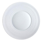 Hemisphere White Dinner Plate  10.6 in | Gracious Style