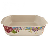 Millefleurs Square Baker 10 1/2 In X 9 1/2 In X 2 1/3 In | Gracious Style