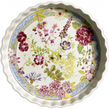 Millefleurs Pie Dish Round 11 1/2 In Dia, 1 2/3 In H | Gracious Style