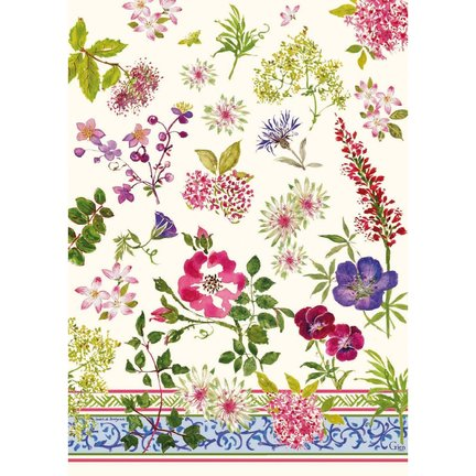 Millefleurs Tea Towels 20 X 27 1/2 In, Set Of 4 | Gracious Style