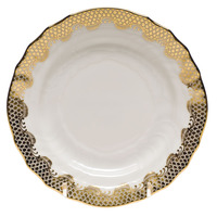 White With Gold Border Bread And Butter Plate 6