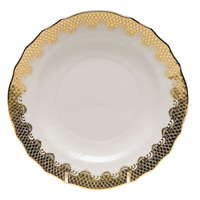 White With Gold Border Salad Plate 7.5