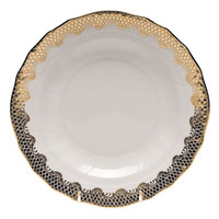 White With Gold Border Dessert Plate 8.25
