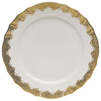 White With Gold Border Service Plate 11