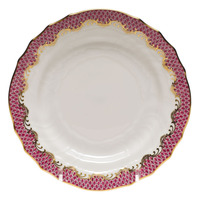 White With Pink Border Bread And Butter Plate 6