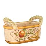 Affresco Handled Basket   Gracious Style