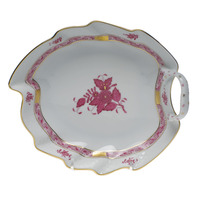 Chinese Bouquet Raspberry Leaf Dish  7.75
