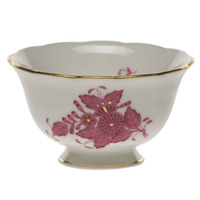 Chinese Bouquet Raspberry Open Sugar Bowl  3