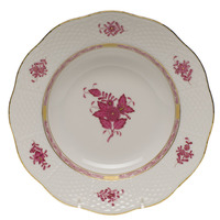Chinese Bouquet Raspberry Rim Soup Plate  8