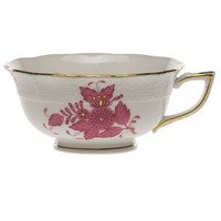 Chinese Bouquet Raspberry Tea Cup  (8 Oz) | Gracious Style