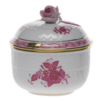 Chinese Bouquet Raspberry Covered Sugar W/Rose  (6 Oz) 4