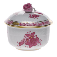 Chinese Bouquet Raspberry Covered Sugar W/Rose  (4 Oz) 3.25