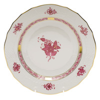 Chinese Bouquet Raspberry Dessert Plate  8.25