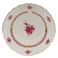 Chinese Bouquet Raspberry Dinner Plate  10.5