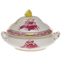 Chinese Bouquet Raspberry Mini Tureen 5