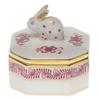 Chinese Bouquet Raspberry Petite Octagonal Box - Bunny 2