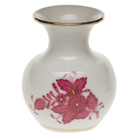 Chinese Bouquet Raspberry Medium Bud Vase W/Lip 2.75