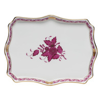 Chinese Bouquet Raspberry Small Tray 7.5