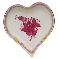 Chinese Bouquet Raspberry Small Heart Tray  4