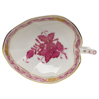 Chinese Bouquet Raspberry Leaf Tray  4.5