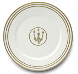 Or Des Airs/Mers Dinner Plate #1 10.25 in Round | Gracious Style