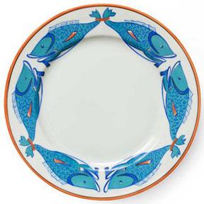 Lagon Fish Dinnerware  sc 1 st  Gracious Style & Exotic New Handpainted Dinnerware From Designer Alberto Pinto ...