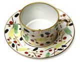 Renouveau Russe Tea Cup & Saucer   Gracious Style