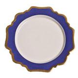 Anna's Palette Indigo Blue Dinner Plate 10.5 in Round | Gracious Style