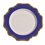 Anna's Palette Indigo Blue Dessert 8.25 in Round | Gracious Style