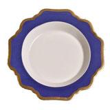 Anna's Palette Indigo Blue Rim Soup Plate 9 in Round | Gracious Style