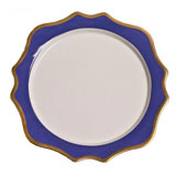 Anna's Palette Indigo Blue Charger 12 in Round | Gracious Style